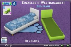 Blackys Sims 4 Zoo: Bed frame single bed spacebed by Cappu • Sims 4 Downloads