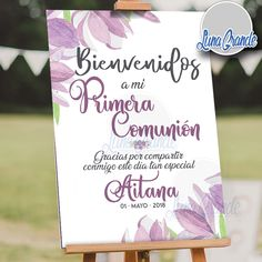 First Communion Banner, First Communion Decorations, First Communion Dresses, Baptism Party, Ideas Para Fiestas, Design Furniture, Plywood Furniture, Wedding Humor, Diy Craft Projects