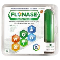 FLONASE provides 24-hour relief from nasal congestion, runny nose and sneezing. It's the only over-the-counter nasal spray indicated to relieve itchy and watery eyes. FLONASE outperforms the #1 non-drowsy allergy pill.* It also helps block 6 allergic substances, while most pills only block 1.**<br><br>Footnote: *Total nasal symptom relief vs. 10 mg single-ingredient loratadine.<br>**Mechanism vs. most OTC allergy pills. FLONASE acts on multiple inflammatory substan...
