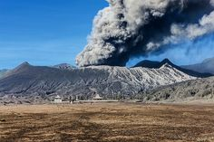 Mount Bromo, is an active volcano and part of the Tengger massif, in East Java, Indonesia. At 2,329 metres it is not the highest peak of the massif, but is the most well known. | Photo of the Day / VolcanoDiscovery - by Uwe Ehlers / geoart.eu: Bromo volcano eruption