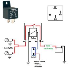 best relay wiring diagram 5 pin wiring diagram bosch 5 pin relay Car Wiring Diagrams defender 90 2 8i spotlights electrical engineering, electrical wiring, motorcycle headlight, defender 90