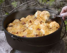 Bacon...cheese...in a Dutch oven - what's not to love about these pull-aparts?