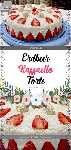 strawberry raffaello cake Source by Einfache_Rezepte Easy White Cake Recipe, Basic Vanilla Cake Recipe, Homemade Vanilla Cake, Easy Cake Recipes, Best Moist Chocolate Cake, Chocolate Butter Cake, Chocolate Cake Recipe Easy, Chocolate Recipes, Crazy Cakes