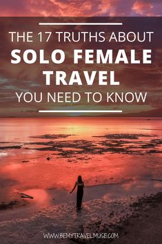 solo travel tip Here are 17 truths about solo female travel you need to know Solo Travel Tips, Travel Advice, Travel Guides, Travel Hacks, Solo Travel Quotes, Travel Info, Travel Stuff, Travel Deals, Cheap Travel