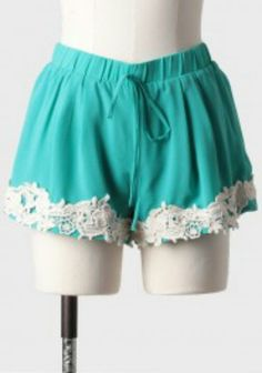 Lace trimmed shorts, very cute