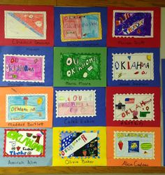 Making State Stamps Olivia Baker, Maria Moore, 3rd Grade Social Studies, Your Teacher, Stamps, Career, Study, How To Make, Seals