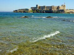 The Venetian fortress on the island of Bozcaada, Turkey
