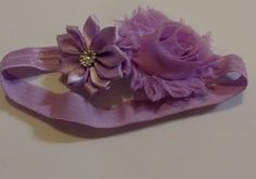Lavender Flower Infant Headband by LilahBea on Etsy
