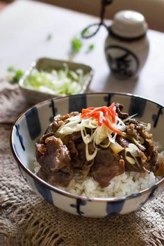 Gyudon Japanese Beef Bowls   Chopstick Chronicles