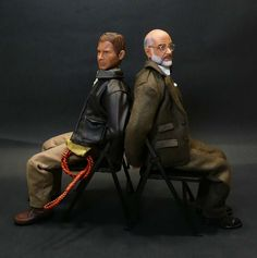 Indiana and Henry Jones, tied up Harrison Ford and Sean Connery