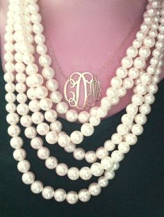 Pearls and a monogram