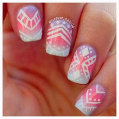 Spring Tribal Nails  #spring #tribal #nails #springtribalnails