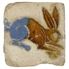 Ashmolean Museum - A leaping hare for #LeapDay! This 16th century tin-glazed earthenware tile is from Seville