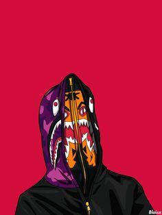 Pretty fucking sick street fashion-inspired digital artworks by Blaisx aka. Blaise Travis.