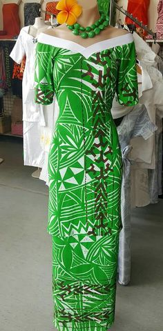 best puletasi in samoa Island Wear, Island Outfit, Samoan Designs, Samoan Dress, Tropical Wedding Dresses, Dress Hairstyles, Curvy Girl Fashion, Jaba, Dress Patterns