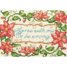 Dimensions Counted Cross Stitch Kit Mini Agree With Me at Joann.com