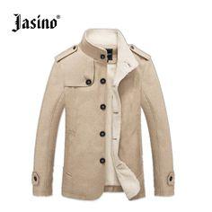 1bbc9a7fbf2 Брендовые повседневные мужские ретро деним Куртки пальто зима хлопок шерсть  теплые джинсы Regular Fit Куртки ветровка