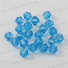Imitation Austrian Glass Beads, Crystal Glass Beads, Faceted Bicone, D
