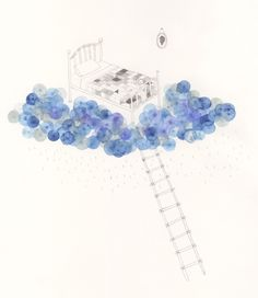Illustrator Amy Burrell. Sleep. #poster #design #art #amy_burrell #dreams #clouds #illustration