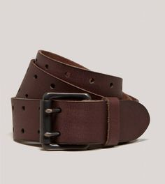 AEO Perforated Leather Belt | American Eagle Outfitters