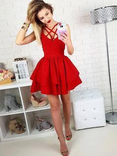 eb1f53682ab11 Black A-line Spaghetti Straps Homecoming Dress Short Prom Drsess SKY998