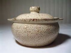 Details about Vintage Stoneware Bean Pot Monmouth Pottery Tan w ...