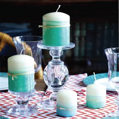 Create the look of expensive hand-dipped pillar candles with these DIY instructions from design expert Michael Penney