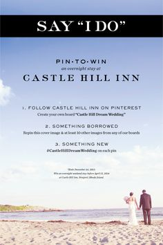 Only a few days left to enter!! #CastleHillDreamWedding