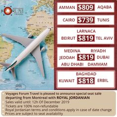Grab your tickets to the destinations of your choice. Forum Travels is pleased to announce various flight offers departing from Montreal. Royal Jordanian, Seed Money, Best Flight Deals, Best Flights, Picture Letters, Hagia Sophia, Jeddah, And So The Adventure Begins, Famous Places