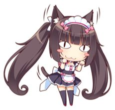 Chibi Anime, Anime Neko, Manga Anime, Cute Characters, Anime Characters, Moe Manga, Anime Maid, Manga Tutorial, Video Game Anime