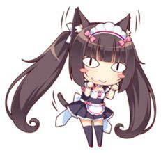 Chibi Anime, Moe Anime, Manga Anime, Cute Characters, Anime Characters, Moe Manga, Anime Maid, Video Game Anime, Catgirl