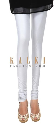 Buy Online from the link below. We ship worldwide (Free Shipping over US$100) Price- $19 Click Anywhere to Tag http://www.kalkifashion.com/white-cotton-hosiery-legging-only-on-kalki-21465.html