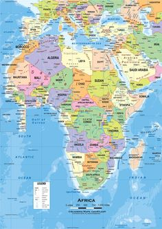Etymological Map of Africa The First Continent Pinterest Africa