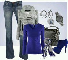 Royal blue gray