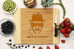The ideal gift for virtually any occasion (or just for you) is an engraved cutting board—use the blank side for cutting and the engraved side for display. We use all natural wood with no staining. Ple