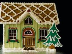Gingerbread House.  Love the unexpected green of the house