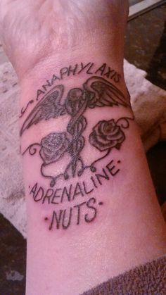 Medical Alert Tattoo For My Nut Allergy
