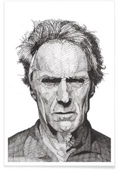 Clint als Premium Poster von RikReimert | JUNIQE
