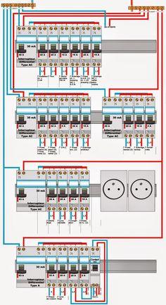 cablage  tableau electrique - #cablage #electrique #electronic #tableau Electrical Panel Wiring, Electrical Circuit Diagram, Electrical Layout, Electrical Plan, Electrical Projects, Electrical Installation, Electronic Circuit Projects, Electronic Engineering, Electrical Engineering