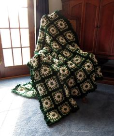 Green Lovers Large Afghan Blanket  60 x 75 by EvensensProductions, $155.00
