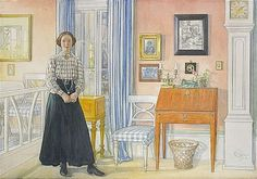 Painting by Swedish artist Carl Larsson
