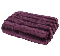 Paxton and Wiggin Faux Fur Throw Pure Plum