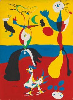 Joan Miró  1893 - 1983  LE FERMIER ET SON ÉPOUSE