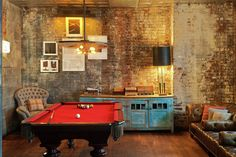 now that's a game room. sweet location at the Soho house NY.