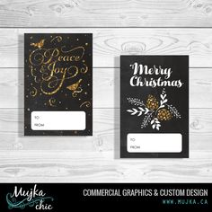 christmas-tags-stickers-merry-mujka-4 Custom Christmas lettering and word art. www.mujka.ca