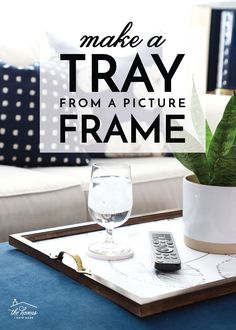 Learn how to make a DIY tray from a picture frame. This is a great way to re-use and up-cycle old frames you still love but have no room for! Plexiglass Sheets, Diy Craft Projects, Craft Ideas, Decorating Ideas, Diy Crafts, Old Cabinet Doors, Easy Diy Gifts, Old Frames, Do It Yourself Crafts