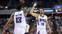 Sacramento Kings Derrick Willliams , Omri Casspi