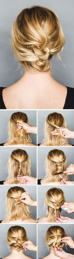 Perfect DIY Twisted Messy Updo | 5 Messy Updos for Long Hair, check it out at  makeuptutorials.c…   The post  DIY Twisted Messy Updo | 5 Messy Updos for Long Hair, check it out at makeuptuto…   ..