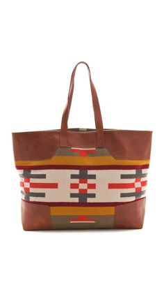 i would wear a blanket all day if i could. this way, i can pretend i am :D    Pendleton, The Portland Collection Canyonville Tote