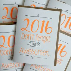 New Year's Card  Letterpress New Year Card  Don't by jdeluce